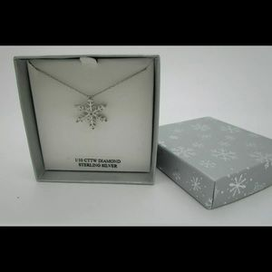"""Snowflake 18"""" Pendant Necklace Sterling Silver"""